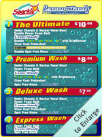 Four Laser Wash Packages